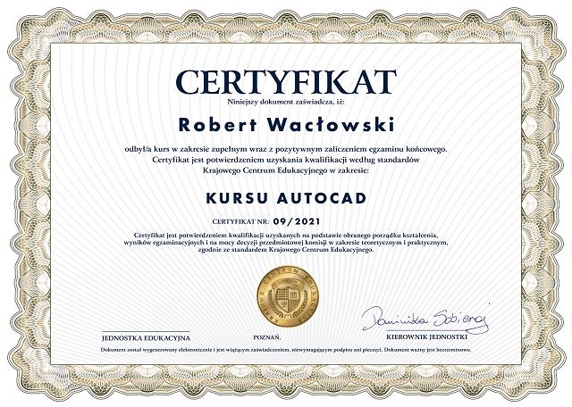 certyfikat - kurs autocad-min