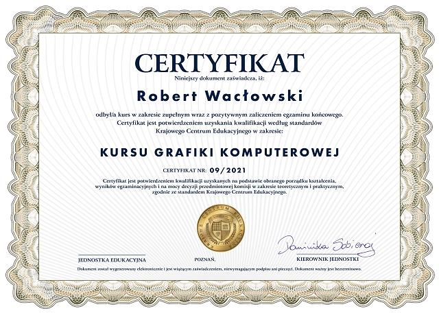 certyfikat - kurs grafiki komputerowej-min