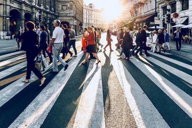 people on a crosswalk