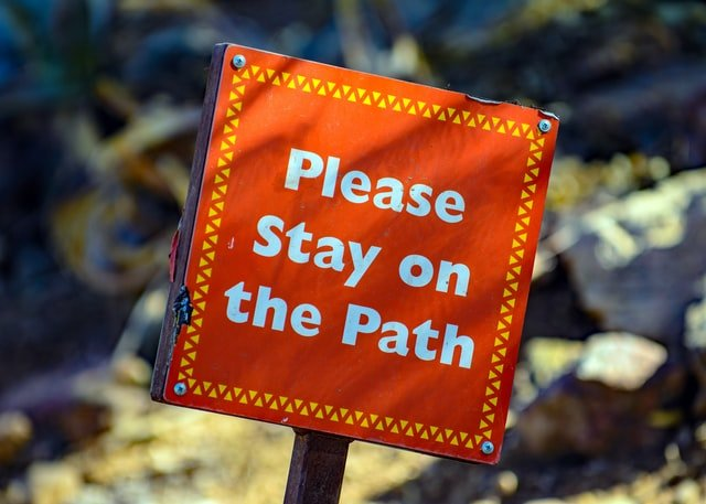 please stay on the path